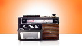 Αναδρομικός φορέας ραδιοφώνων και κασετών Στοκ εικόνα με δικαίωμα ελεύθερης χρήσης
