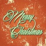 Αναδρομικός χαιρετισμός Χαρούμενα Χριστούγεννας Στοκ εικόνες με δικαίωμα ελεύθερης χρήσης