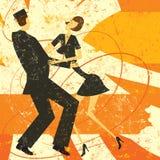 Αναδρομικός χορός ζευγών Στοκ φωτογραφία με δικαίωμα ελεύθερης χρήσης
