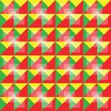 Αναδρομικό άνευ ραφής ζωηρόχρωμο σχέδιο Στοκ Εικόνες