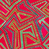 Αναδρομικό άνευ ραφής σχέδιο κόκκινου χρώματος με την επίδραση grunge διανυσματική απεικόνιση
