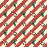 Αναδρομικό άνευ ραφής σχέδιο Χριστουγέννων Στοκ φωτογραφίες με δικαίωμα ελεύθερης χρήσης
