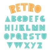 Αναδρομικό αγγλικό αλφάβητο Στοκ φωτογραφία με δικαίωμα ελεύθερης χρήσης