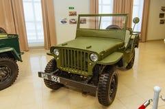 Αναδρομικό αγώνα τεθωρακισμένων οχημάτων μουσείο ιστορίας εκθεμάτων στρατιωτικό, Ekaterinburg, Ρωσία, 05 03 έτος του 2016 Στοκ Φωτογραφία