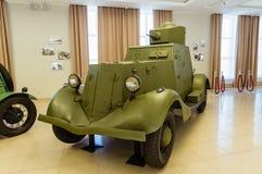Αναδρομικό αγώνα τεθωρακισμένων οχημάτων μουσείο ιστορίας εκθεμάτων στρατιωτικό, Ekaterinburg, Ρωσία, 05 03 έτος του 2016 Στοκ φωτογραφία με δικαίωμα ελεύθερης χρήσης