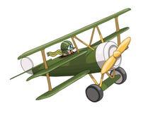 Αναδρομικό αεροπλάνο κινούμενων σχεδίων Όπως ένα παιχνίδι Eps-10 διανυσματικό σχήμα Στοκ φωτογραφία με δικαίωμα ελεύθερης χρήσης
