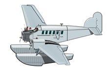Αναδρομικό αεροπλάνο κινούμενων σχεδίων Στοκ εικόνες με δικαίωμα ελεύθερης χρήσης