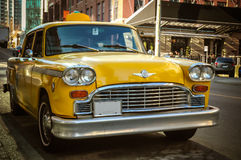Αναδρομικό αμάξι ταξί Στοκ εικόνα με δικαίωμα ελεύθερης χρήσης