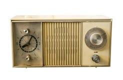 Αναδρομικό αρχαίο πλαστικό ραδιόφωνο ρολογιών Στοκ Εικόνες