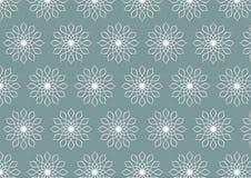 Αναδρομικό ασημένιο σχέδιο λουλουδιών στο υπόβαθρο χρώματος κρητιδογραφιών Στοκ Φωτογραφία