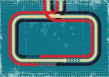 Αναδρομικό αφηρημένο υπόβαθρο με την αναδρομική διακόσμηση. Β Στοκ εικόνα με δικαίωμα ελεύθερης χρήσης