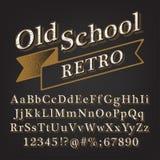 Αναδρομικό αλφάβητο παλιού σχολείου ελεύθερη απεικόνιση δικαιώματος