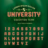 Αναδρομικό αλφάβητο, ύφος σχολικών ομάδων Στοκ Εικόνα