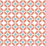 Αναδρομικό γεωμετρικό άνευ ραφής πρότυπο Στοκ Εικόνες