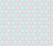 Αναδρομικό γεωμετρικό hexagon άνευ ραφής σχέδιο Στοκ φωτογραφία με δικαίωμα ελεύθερης χρήσης