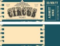 Αναδρομικό εισιτήριο τσίρκων Στοκ φωτογραφίες με δικαίωμα ελεύθερης χρήσης