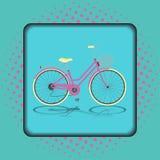 Αναδρομικό εκλεκτής ποιότητας ποδήλατο Στοκ φωτογραφίες με δικαίωμα ελεύθερης χρήσης