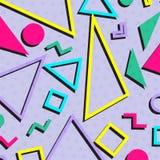 Αναδρομικό εκλεκτής ποιότητας της δεκαετίας του '80 ή της δεκαετίας του '90 μόδας backgrou σχεδίων ύφους αφηρημένο ελεύθερη απεικόνιση δικαιώματος