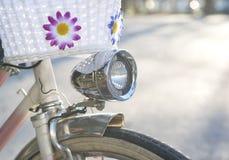 Αναδρομικό επικεφαλής φως ποδηλάτων ύφους Στοκ Φωτογραφία