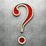 Αναδρομικό ερωτηματικό με τα φω'τα νέου Στοκ Εικόνα