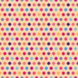 Αναδρομικό ζωηρόχρωμο άνευ ραφής σχέδιο αστεριών Στοκ φωτογραφίες με δικαίωμα ελεύθερης χρήσης
