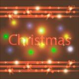 Αναδρομικό ζωηρόχρωμο υπόβαθρο Χριστουγέννων Χριστούγεννα εύθυμα Στοκ εικόνα με δικαίωμα ελεύθερης χρήσης