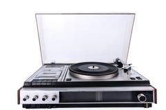 Αναδρομικό ηλεκτρονικό Gramophone που απομονώνεται στο άσπρο υπόβαθρο Στοκ Φωτογραφίες