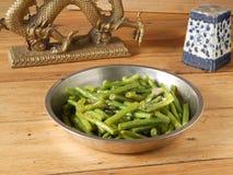 Αναδρομικό διακοσμητικό κινεζικό να δειπνήσει φυτικό πιάτο Στοκ Εικόνες