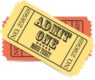 Αναδρομικό διανυσματικό εισιτήριο κινηματογράφων Στοκ Φωτογραφίες