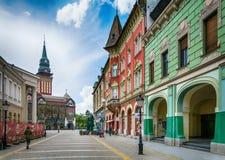 Αναδρομικό κτήριο στην πόλη Subotica, Σερβία Στοκ φωτογραφία με δικαίωμα ελεύθερης χρήσης