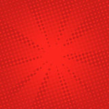 Αναδρομικό κωμικό κόκκινο υπόβαθρο ακτίνων στοκ φωτογραφία