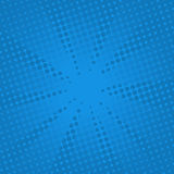 Αναδρομικό κωμικό μπλε υπόβαθρο ακτίνων στοκ εικόνα με δικαίωμα ελεύθερης χρήσης