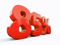 Αναδρομικό κόκκινο σημάδι τοις εκατό Στοκ Φωτογραφία