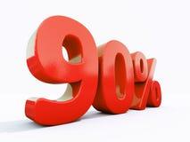 Αναδρομικό κόκκινο σημάδι τοις εκατό Στοκ Φωτογραφίες