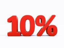 Αναδρομικό κόκκινο σημάδι τοις εκατό Στοκ εικόνες με δικαίωμα ελεύθερης χρήσης