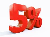 Αναδρομικό κόκκινο σημάδι τοις εκατό Στοκ Εικόνα