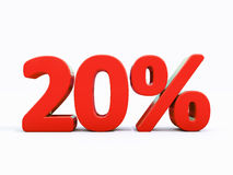 Αναδρομικό κόκκινο σημάδι τοις εκατό Στοκ φωτογραφία με δικαίωμα ελεύθερης χρήσης