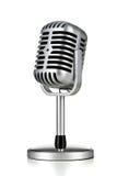 Αναδρομικό μικρόφωνο Στοκ φωτογραφίες με δικαίωμα ελεύθερης χρήσης