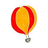 αναδρομικό μπαλόνι ζεστού αέρα κινούμενων σχεδίων Στοκ Φωτογραφίες