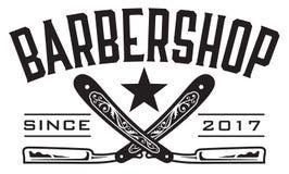 Αναδρομικό λογότυπο Barbershop Στοκ Εικόνες