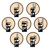 Αναδρομικό ορισμένο σχέδιο χεριών Στοκ εικόνες με δικαίωμα ελεύθερης χρήσης