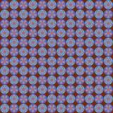 Αναδρομικό λουλούδι στο άνευ ραφής σχέδιο σοκολάτας διανυσματική απεικόνιση