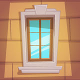 Αναδρομικό παράθυρο κινούμενων σχεδίων Στοκ φωτογραφία με δικαίωμα ελεύθερης χρήσης