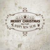 Αναδρομικό παλαιός-κοίταγμα Grange κάρτα Χριστουγέννων διανυσματική απεικόνιση