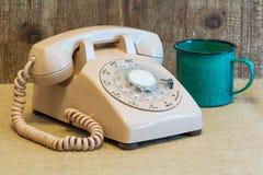 Αναδρομικό περιστροφικό τηλέφωνο πινάκων Στοκ εικόνες με δικαίωμα ελεύθερης χρήσης