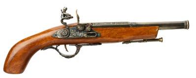 Αναδρομικό πιστόλι που απομονώνεται σε ένα άσπρο υπόβαθρο Στοκ Φωτογραφία