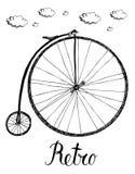 Αναδρομικό ποδήλατο Στοκ εικόνα με δικαίωμα ελεύθερης χρήσης