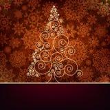 Αναδρομικό πρότυπο καρτών Χριστουγέννων.  Στοκ Εικόνες