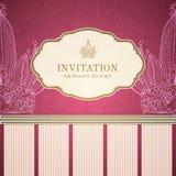 Αναδρομικό πρότυπο πρόσκλησης πριγκηπισσών Στοκ Εικόνες