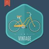 Αναδρομικό πρότυπο σχεδίου αφισών ποδηλάτων επίσης corel σύρετε το διάνυσμα απεικόνισης Στοκ Φωτογραφίες